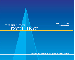 The Pursuit of Excellence - National Council of Self Insurers Conference November 2010