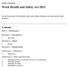 A comparison of WHS Acts among jurisdictions is available from Safe Work Australia